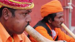 The snake charmers. People, India, Asia Stock Footage