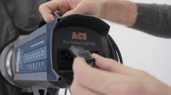 The illuminator configures equipment Stock Footage