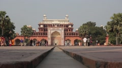 Tomb Of Akbar The Great. Agra Stock Footage
