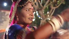 dance Indian dancers. India, Indian culture, dance, dancers - stock footage