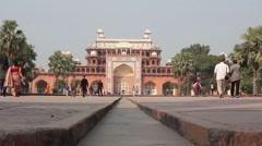 Tomb of Akbar the Great / Akbar's Mausoleum Stock Footage