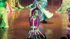 girl dancing Indian dance. India, Indian culture, dance, dancers - stock footage