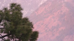 Pink sunset in the Himalayas Stock Footage