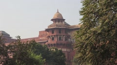 The red Fort. Tower. Agra. Stock Footage