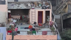 Indian house. Open roof. Jaipur Stock Footage