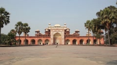 Tomb Of Akbar The Great. Agra. Stock Footage