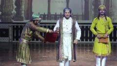 Indian theatre. The play is about Shah Jahan. India, Indian culture, stage - stock footage