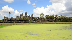 Main Temple Complex - Angkor Wat Temple Cambodia Stock Footage