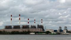 Time lapse shot of electric power station , footage size 4k (4096x2304) Arkistovideo