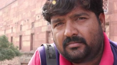Indian man looking at the camera. People, India, Asia Stock Footage