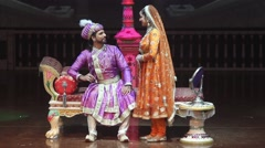 Indian theatre. Shah Jahan and Mumtaz Mahal. People, India, Asia Stock Footage
