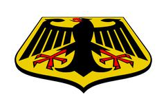 coat of arms of germany - stock illustration