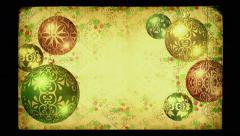 Christmas background loop. Old-fashioned vintage grunge style. Stock Footage