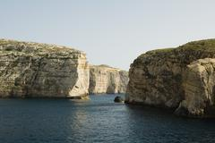 Malta, coastal landscape with cliffs - stock photo