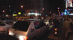 Buenos Aires Protest Street Life 12 Stock Footage