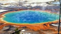 Grand Prismatic Springs - stock footage