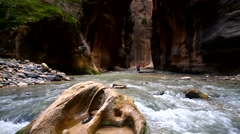 Zion Narrows Stock Footage
