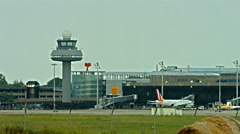 Hannover international airport Stock Footage