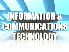 information and communications technology - stock illustration