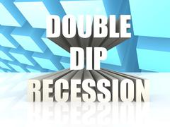double dip recession - stock illustration