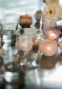 Candles in candleholders Stock Photos