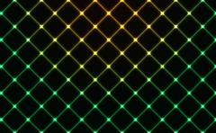 Dark wired fence glowing background Stock Illustration