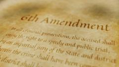 Historic Document 6th Amendment - stock footage
