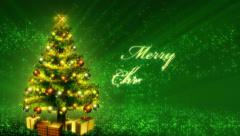 Magical Growing Christmas Tree and Merry Christmas text. Loop from 17:00 - 26:00 - stock footage