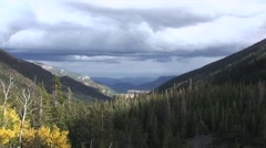 HD ROCKY MOUNTAIN NATIONAL PARK FALL COLORS TIMELAPSE Stock Footage
