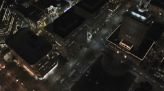 Aerial night illuminated view City buildings San Francisco USA - stock footage