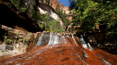 Red Waterfall Stock Footage