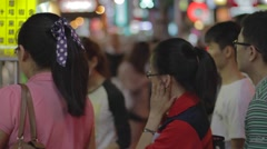 Cinematic - people order food - tonghua night market Stock Footage