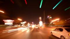 Las Vegas Driving 05 Time Lapse POV Vehicle Shot USA Stock Footage