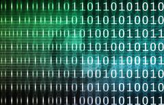 binary technology stream - stock illustration