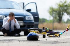 Driver after car accident Stock Photos