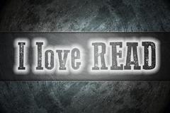 i love read concept - stock illustration