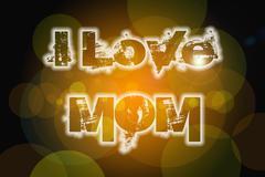 i love mom concept - stock illustration