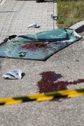 Killing accident area Stock Photos