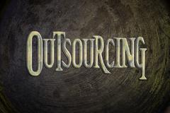 Outsourcing concept Stock Illustration