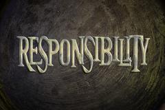 responsibility concept - stock illustration