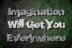 Stock Illustration of imagination will get you everywhere concept