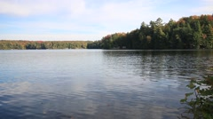 Lake In Cottage Country Stock Footage