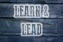 learn and lead concept - stock illustration