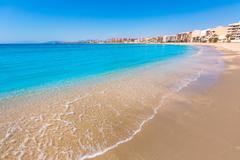 aguilas poniente beach murcia in spain - stock photo