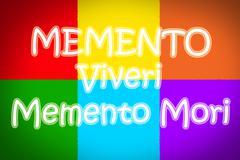 memento viveri memento mori concept - stock illustration