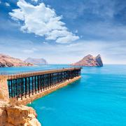 Aguilas embarcadero el hornillo pier murcia spain Stock Photos