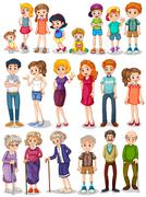 Family set - stock illustration