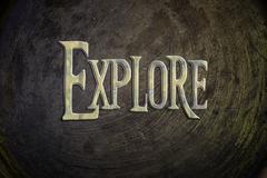 Explore concept Stock Illustration