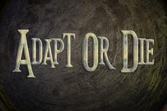 Adapt or die concept Stock Illustration