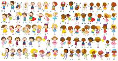 Children cultural Stock Illustration